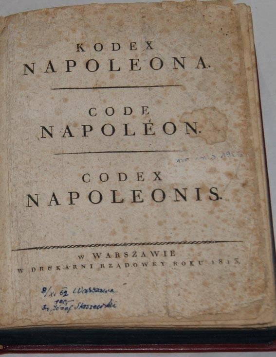 Kodex Napoleona antykwariat online