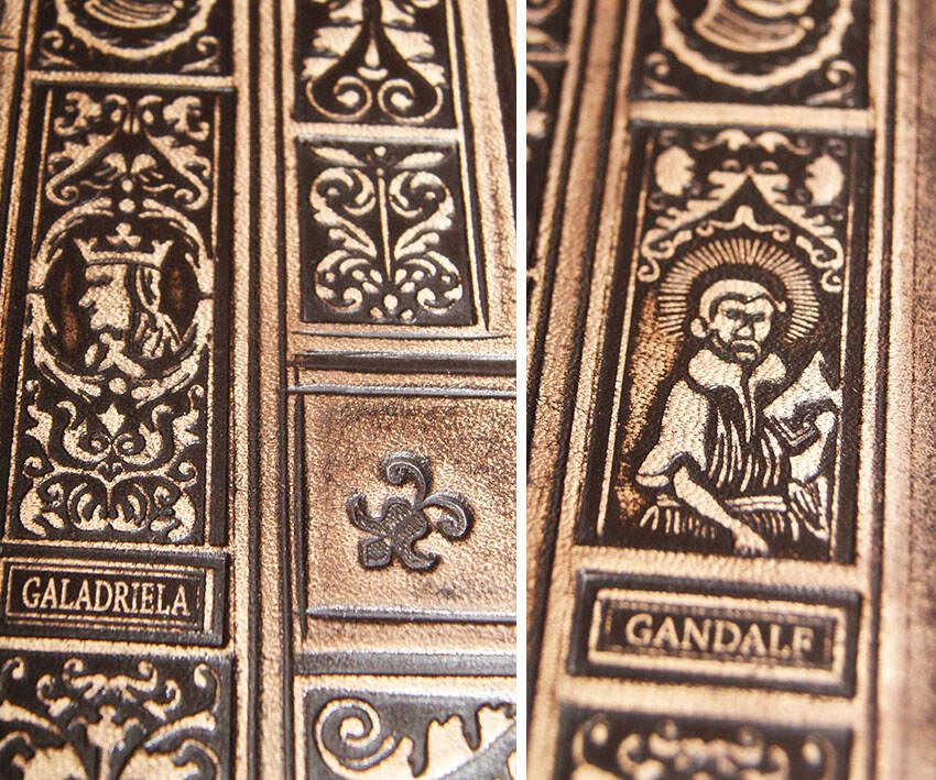 Tolkien, Władca pierścieni, skórzana oprawa, Lord of the Rings, full leather binding