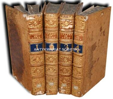 COXE- VOYAGE EN POLOGNE, RUSSIE, SUEDE, DANNEMARC, etc. t. I-IV [komplet] wyd. 1786 - plany, mapy, portrety, ilustracje