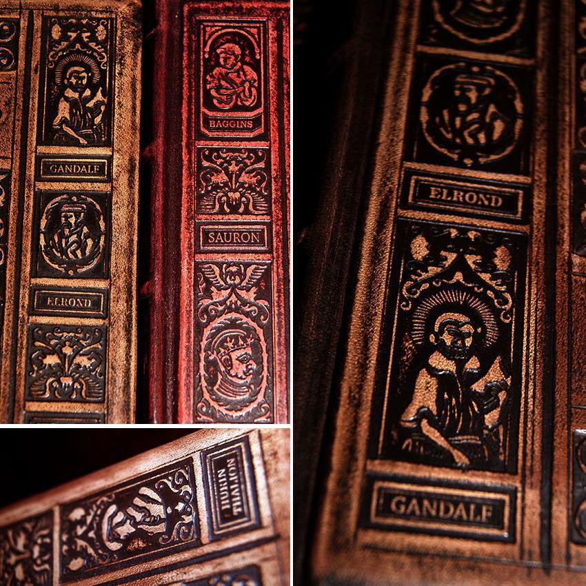 Tolkien Niedokończone opowieści ekskluzywna luksusowa oprawa skóra skórzana