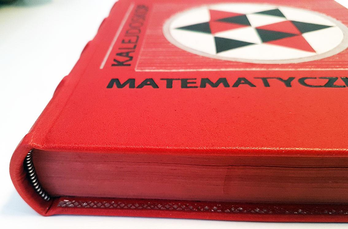 Hugo Steinhaus, Kalejdoskop matematyczny w skórzanej oprawie, ekskluzywne książki w skórzanych okładkach, luksusowe książki, oprawa książek w skórę, introligatorstwo artystyczne, rzadkie książki, książka na prezent