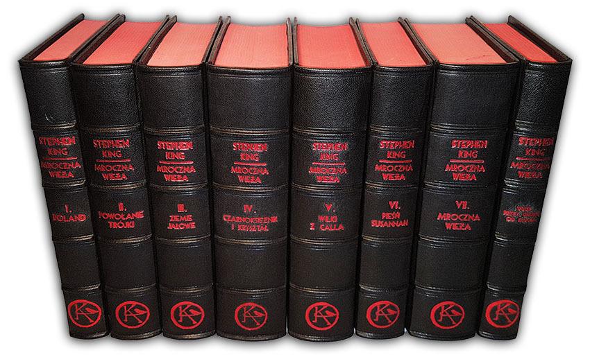 Stephen King, Mroczna Wieża, Dark Tower, symbol KA, luksusowe książki w skórzanych oprawach, książka na ekskluzywny prezent,  książki oprawione w skórę, luxury gifts, exclusive leather bound books, bookbinder, leather binding, oprawa książek w skórę