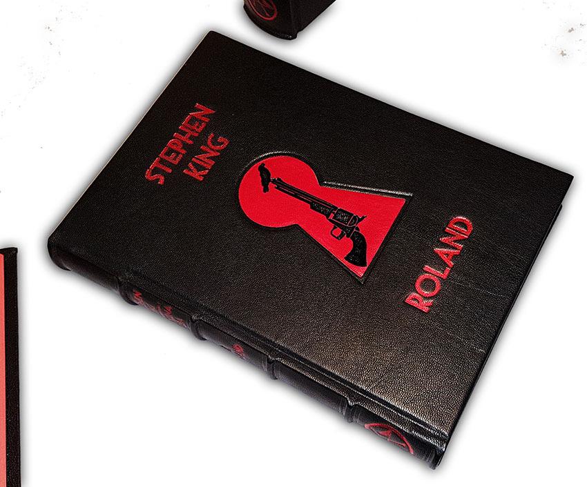 Stephen King, Mroczna Wieża, Dark Tower, symbol KA, luksusowe książki w skórzanych oprawach, książka na ekskluzywny prezent,  książki oprawione w skórę, luxury gifts, exclusive leather bound books, bookbinder, leather binding, introligatorstwo