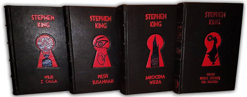Stephen King, Mroczna Wieża, Dark Tower, symbol KA, luksusowe książki w skórzanych oprawach, książka na ekskluzywny prezent,  książki oprawione w skórę, luxury gifts, exclusive leather bound books, bookbinder, leather binding, usługi introligatorskie