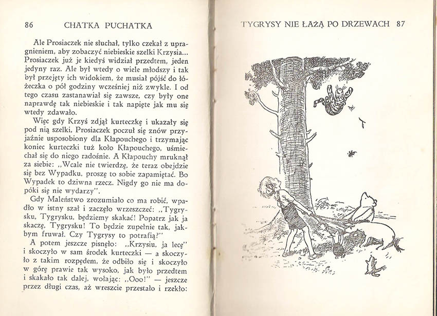 Kubuś Puchatek A.A. Milne pierwsze polskie wydanie 1938, pierwsze wydanie ksiażkowe w języku polskim, Chatka Puchatka, E.H. Shepard, Prosiaczek, rzadkie książki