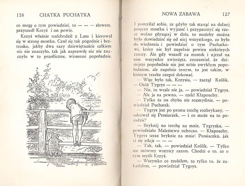Kubuś Puchatek A.A. Milne pierwsze polskie wydanie 1938, pierwsze wydanie książkowe w języku polskim, Chatka Puchatka, E.H. Shepard, Prosiaczek, rzadkie książki