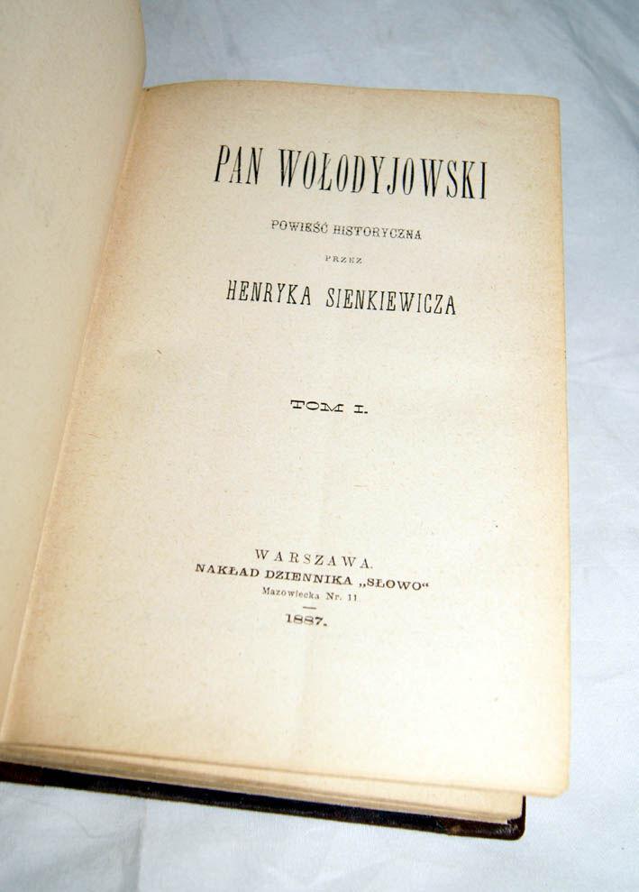 polskie starodruki, starodruki polonica, rzadkie książki przedwojenne, cenne książki, antykwariat sobieski, pierwsze wydania Henryk Sienkiewicz, pierwodruk