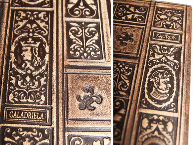 """The Lord of the Rings"" J.R.R. Tolkien in a renaissance  knurled leather binding."