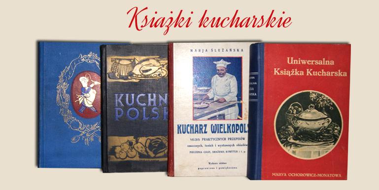 stare książki kucharskie